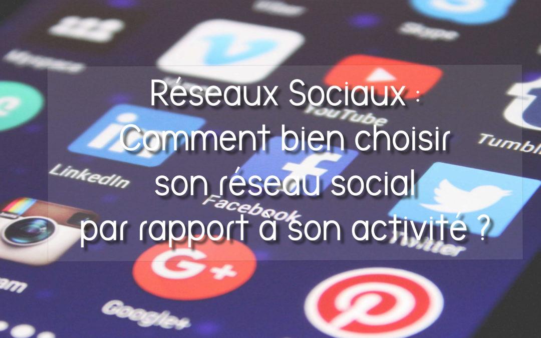 Choisir le réseau social adapté à son activité