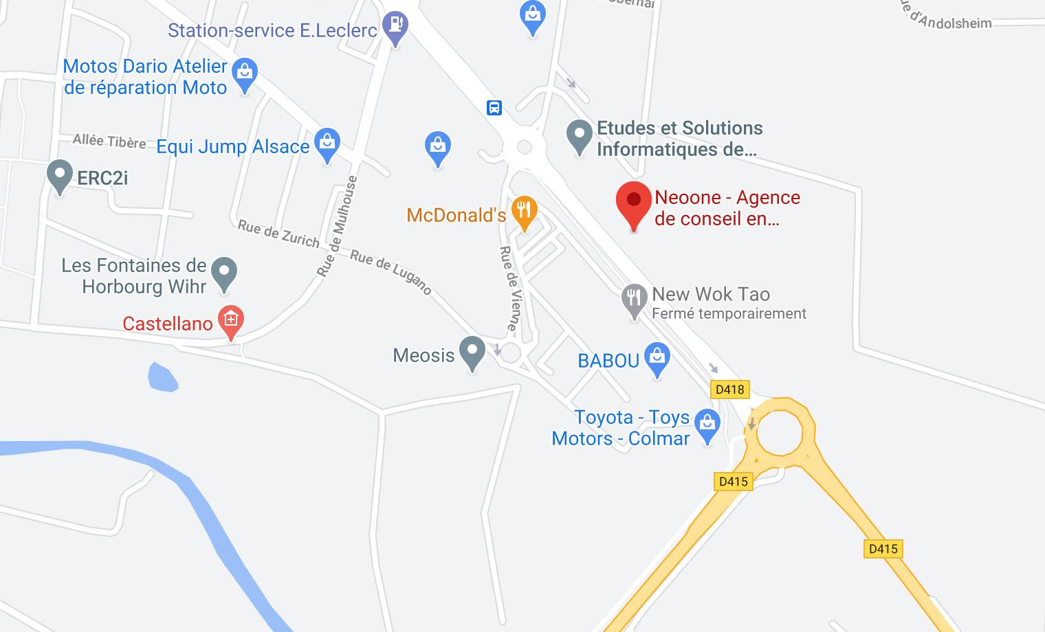 carte map google neoone
